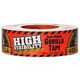 Gorilla High Visibility Tape, 35yd Blaze Orange