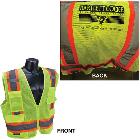 """844295c855 Bartlett Cocke """"THE FUTURE IS OUR TO BUILD"""" SV6 Surveyor Two-Tone Vest"""
