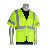 Class 3 Mesh Vest, 4 pockets, Zipper Closure, 2in. Tape, LY