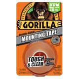 "Gorilla Mounting Tape, 1"" x 60"", Clear"