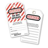 """Do Not Operate"" Safety Tag, English, Laminated"