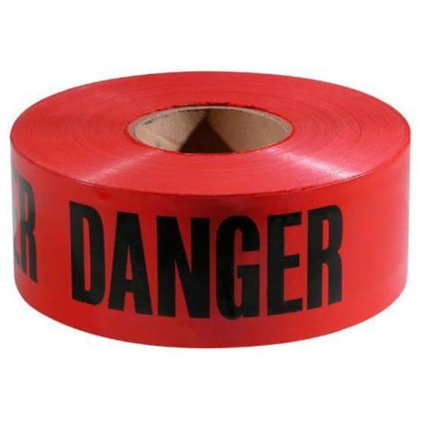 Red Danger Barricade Tape w/ Ram Tool Logo